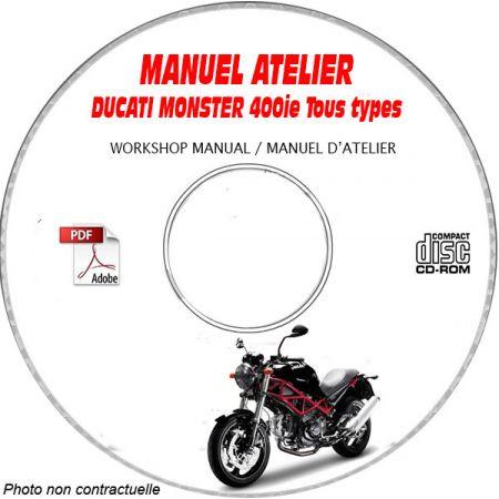 MONSTER 400ie - Manuel Atelier CDROM DUCATI Anglais italien