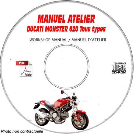 MONSTER 620 2006 Manuel Atelier CDROM DUCATI Anglais