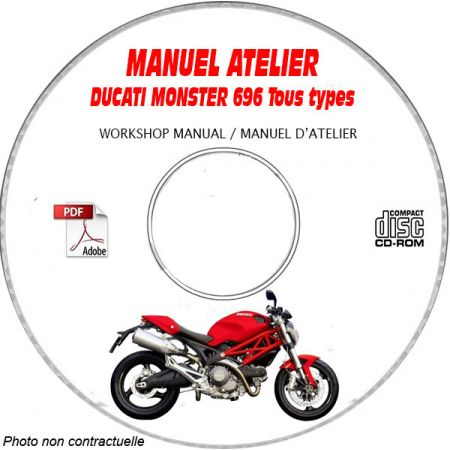 MONSTER 696 2009 Manuel Atelier CDROM DUCATI FR