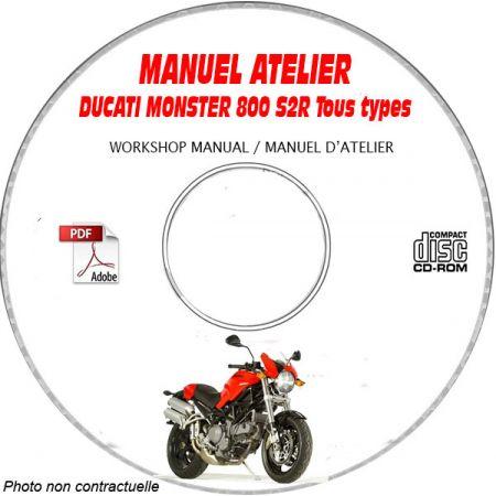 MONSTER S2R 800 2006 Manuel Atelier CDROM DUCATI Anglais italien