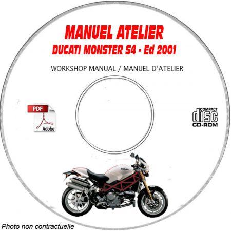 MONSTER S4 2001 Manuel Atelier CDROM DUCATI FR Allemand