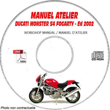 MONSTER S4 + Fogarty 2002 Manuel Atelier CDROM DUCATI Anglais italien