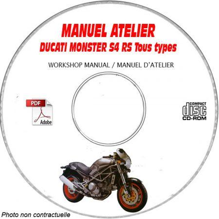 MONSTER S4RS 2006 Manuel Atelier MOTO-GUZZI CDROM Anglais italien