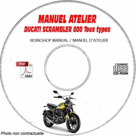 SCRAMBLER 800 - Manuel Atelier CDROM DUCATI Anglais