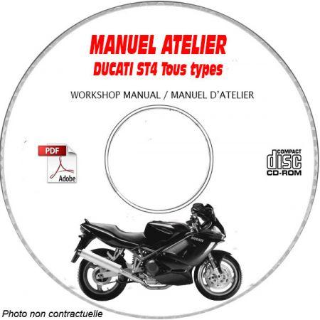 ST4 2000 Manuel Atelier CDROM DUCATI Anglais italien