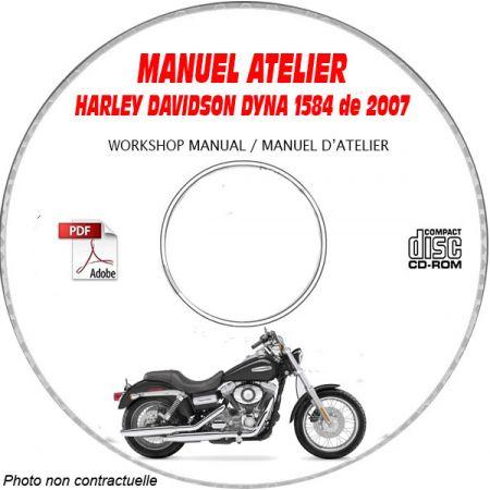 DYNA 2007 Manuel Atelier CDROM HARLEY-DAVIDSON Anglais