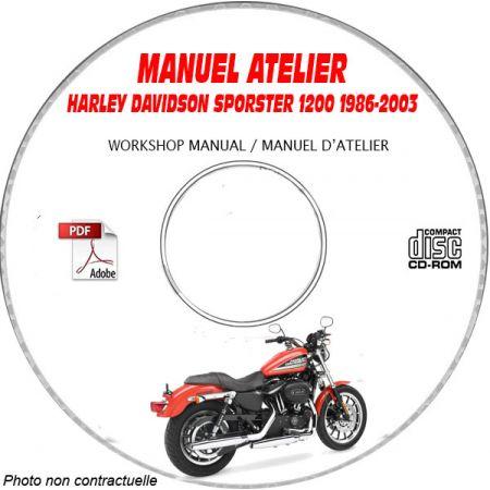 SPORTSTER 1200 86-03  Manuel Atelier CDROM HARLEY-DAVIDSON Anglais