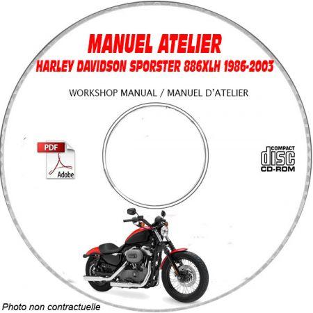 SPORTSTER 883 -94 Manuel Atelier CDROM HARLEY-DAVISDON FR