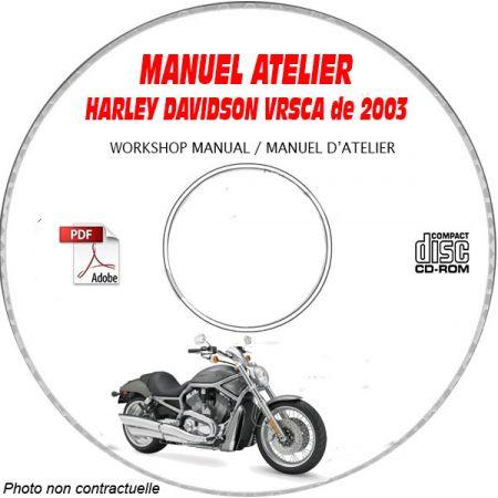VRSCA 2003 Manuel Atelier CDROM HARLEY-DAVIDSON Anglais