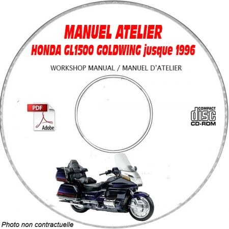 GL1500 GOLDWING Manuel Atelier CDROM HONDA Anglais