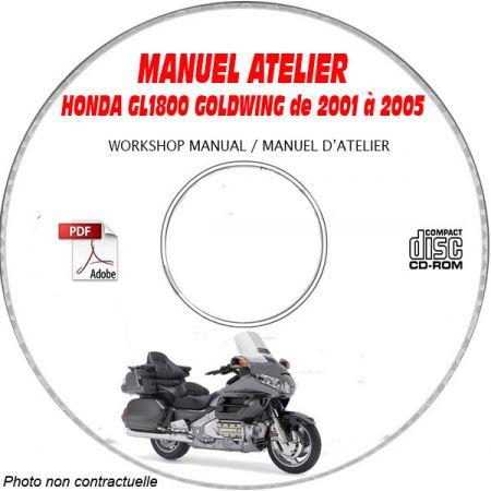 GL 1800 GOLDWING 01-05 Manuel Atelier CDROM HONDA FR