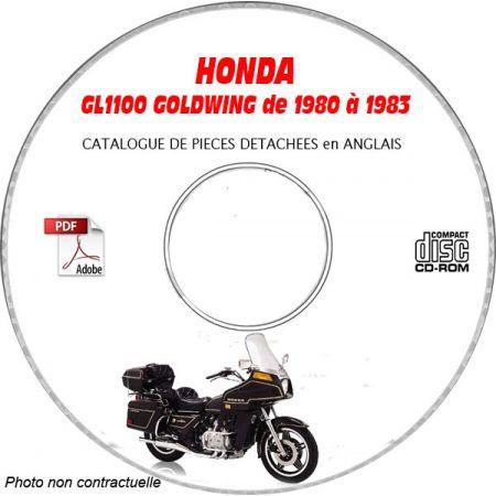 GL1100 GOLDWING 80-83 Catalogue Pièces CDROM HONDA anglais
