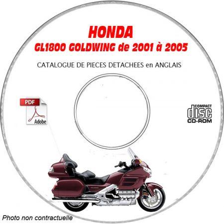 GL1800 GOLDWING 01-05 Catalogue Pièces CDROM HONDA anglais