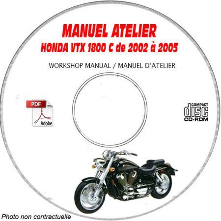 VTX 1800C 02-05 Manuel Atelier CDROM HONDA Anglais