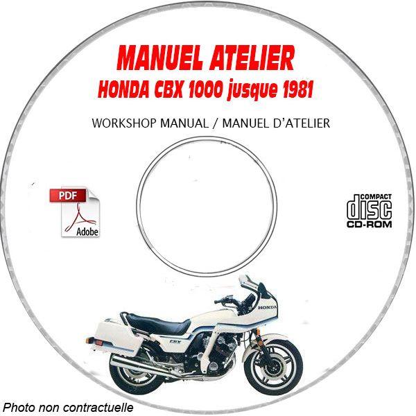 CBX 1000 -81 Manuel Atelier CDROM HONDA Anglais