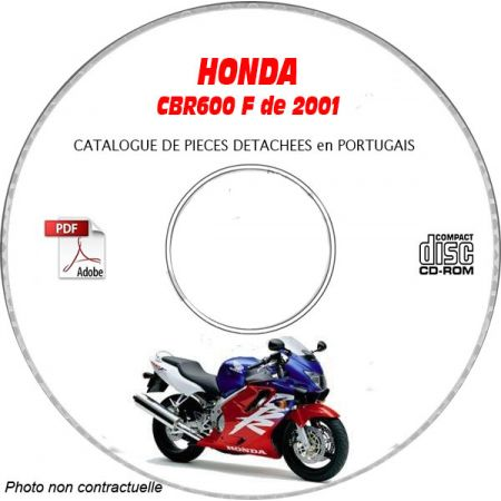 CBR 600F 2001 CATALOGUE HONDA CDROM
