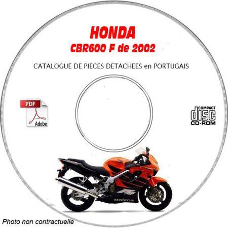 CBR 600F 2002 CATALOGUE HONDA CDROM Portugais