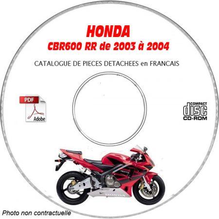 CBR 600RR 03-04 MANUEL PIECES HONDA CDROM