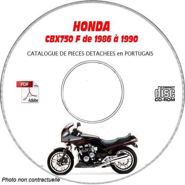CBX 750F 86-90 Catalogue Pièces CDROM HONDA  Portugais