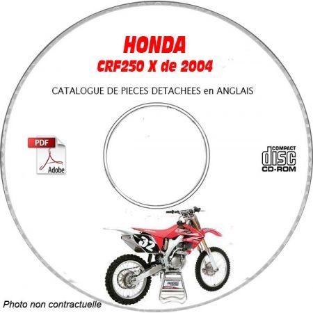CRF 250X 2004 Catalogue Pièces CDROM HONDA Anglais