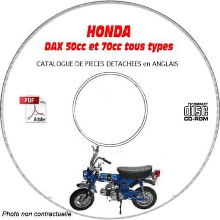 DAX 50 et 70 cc Catalogue Pièces CDROM HONDA Anglais