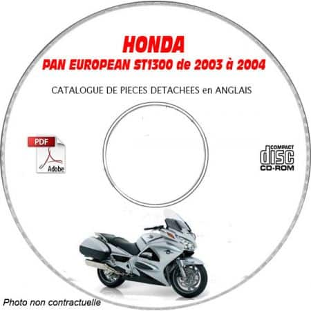 PAN EUROPEAN ST 1300 03-04 Catalogue Pièces CDROM HONDA Anglais