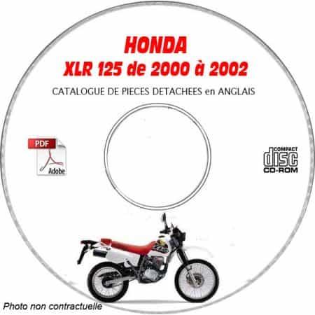 XLR 125 00-02 Catalogue Pièces CDROM HONDA Anglais