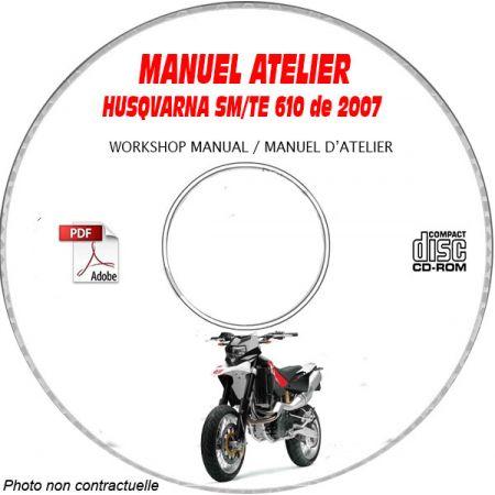 SM + TE 610 ie 07-08 Manuel Atelier CDROM HUSQVARNA
