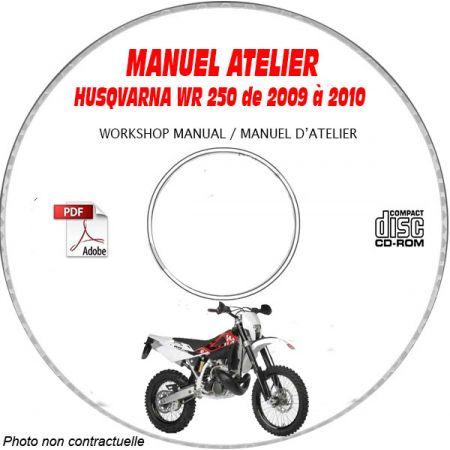 WR 250 09-10 Manuel Atelier CDROM HUSQVARNA