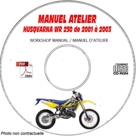 WR 250 01-03 Manuel Atelier CDROM HUSQVARNA