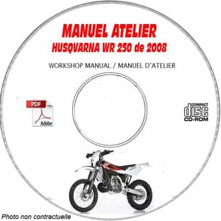 WR 250 08 Manuel Atelier CDROM HUSQVARNA