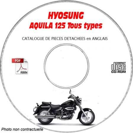 AQUILA 125 -03 Catalogue Pièces CDROM HYOSUNG Anglais