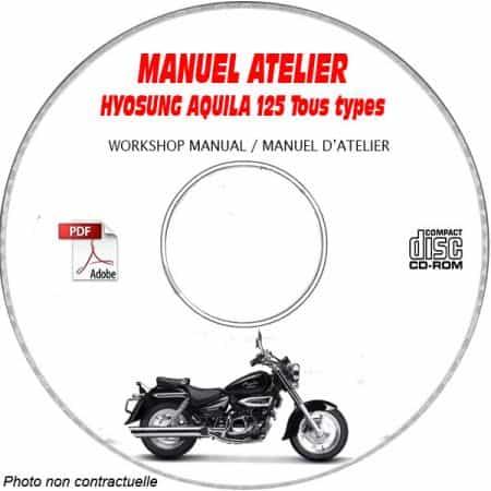 AQUILA 125 -01 Manuel Atelier CDROM HYOSUNG Anglais