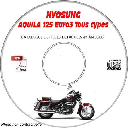 AQUILA 125 Euro 3 Catalogue Pièces CDROM HYOSUNG Anglais
