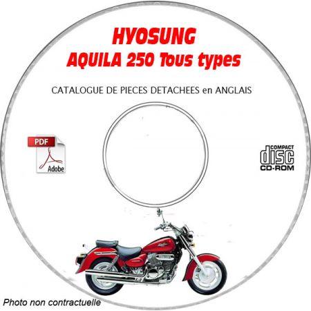 AQUILA 250 -03 Catalogue Pièces CDROM HYOSUNG Anglais