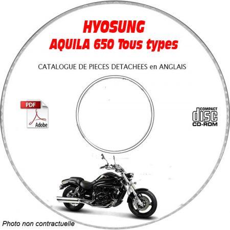 AQUILA 650 -03 Catalogue Pièces CDROM HYOSUNG Anglais