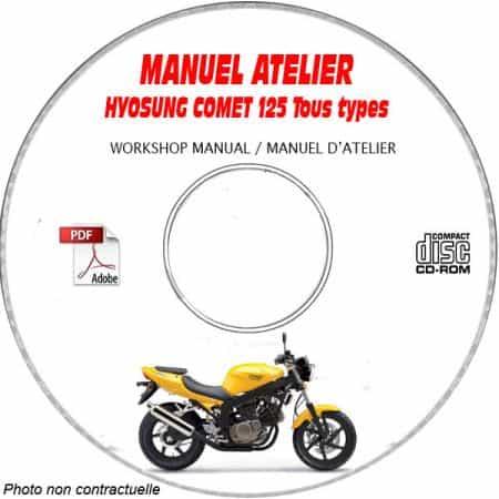 COMET 125 -02 Manuel Atelier CDROM HYOSUNG Anglais