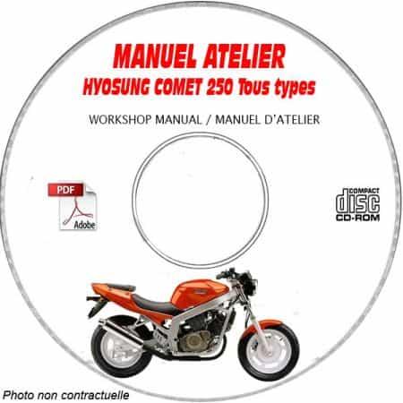 COMET 250 -02 Manuel Atelier CDROM HYOSUNG Anglais