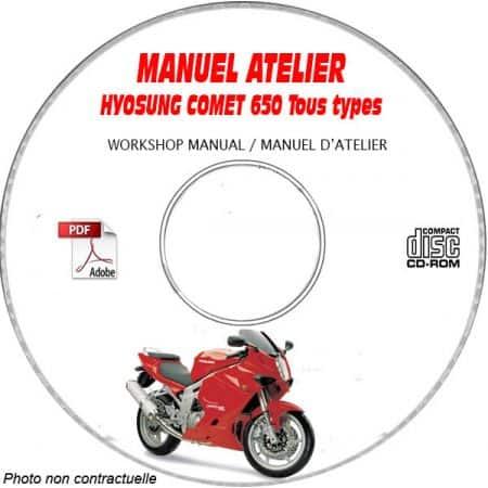 COMET 650 FI + S + R -08 Manuel Atelier CDROM HYOSUNG Anglais