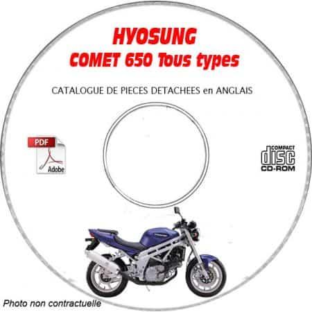 COMET 650 Catalogue Pièces CDROM HYOSUNG Anglais