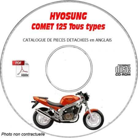 COMET 125 Catalogue Pièces CDROM HYOSUNG Anglais