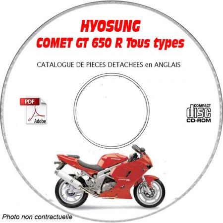 COMET 650 R Catalogue Pièces CDROM HYOSUNG Anglais