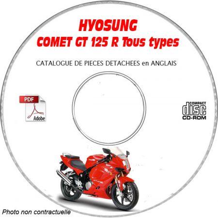 COMET GT 125 R - Catalogue Pieces CDROM HYOSUNG Anglais