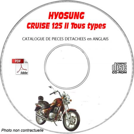 125 Cruise 2 Catalogue Pieces CDROM HYOSUNG Anglais
