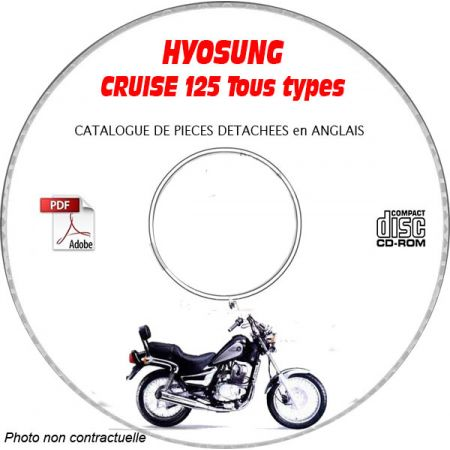 125 Cruise Catalogue Pieces CDROM HYOSUNG Anglais