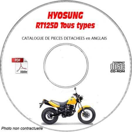 RT 125 D - Catalogue Pieces CDROM HYOSUNG Anglais