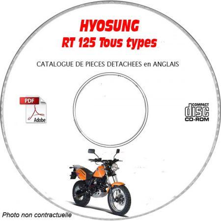 RT 125 -03 Catalogue Pièces CDROM HYOSUNG Anglais