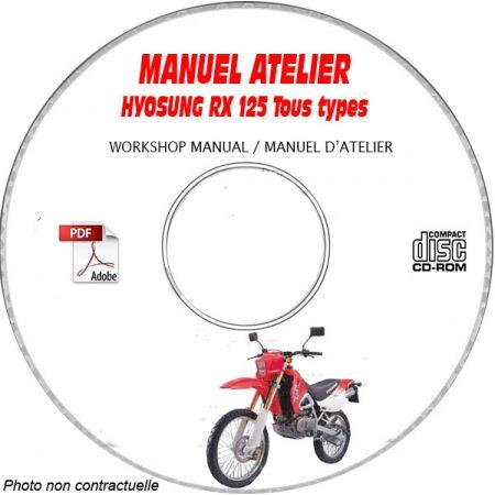 RX 125 -99 Manuel Atelier CDROM HYOSUNG Anglais