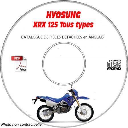 XRX 125 -03 Catalogue Pièces CDROM HYOSUNG Anglais