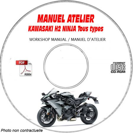 H2 Ninja - Manuel Atelier CDROM KAWASAKI Anglais Revue technique